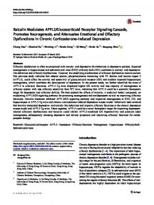 Baicalin Modulates APPL2/Glucocorticoid Receptor ... - Springer Link