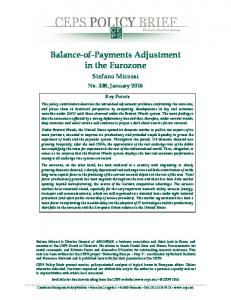Balance-of-Payments Adjustment in the Eurozone - Centre for ...