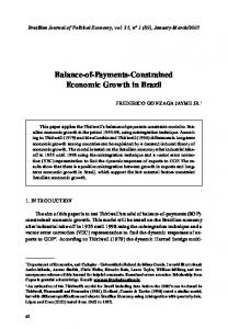 Balance-of-Payments-Constrained Economic Growth in Brazil