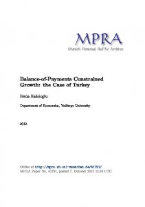 Balance-of-Payments Constrained Growth - Munich Personal RePEc ...