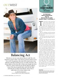 Balancing Act - Justabouta Ranch