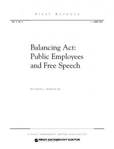 Balancing Act: Public Employees and Free Speech