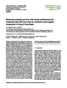 Balancing ecosystem services with energy and food security - CiteSeerX