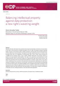 Balancing intellectual property against data protection: a ... - IDP - UOC