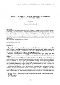 baltic triplets? out-migration migration and responses to ... - CiteSeerX