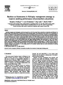 Bamboo as bioresource in Ethiopia: management strategy to improve ...