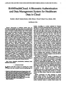 BAMHealthCloud: A Biometric Authentication and Data Management ...