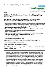 BAMS: A Tool for Supervised Burned Area Mapping Using ... - MDPI