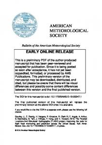 BAMS FLASH Project Paper - NWS Training Portal - National Weather