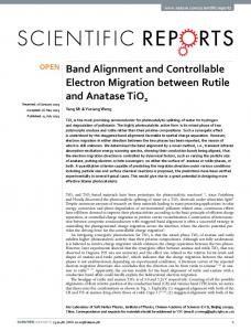 Band Alignment and Controllable Electron