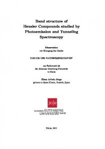 Band structure of Heusler Compounds studied by Photoemission and