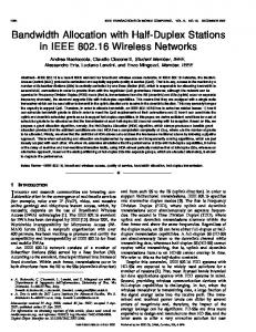 Bandwidth Allocation with Half-Duplex Stations in IEEE ... - IEEE Xplore