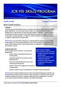 Bank Credit Analysis - JCR-VIS Credit Rating Co. Ltd.