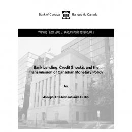 Bank Lending, Credit Shocks, and the Transmission of ... - CiteSeerX