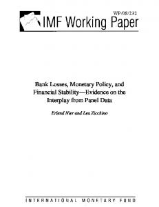 Bank Losses, Monetary Policy, and Financial Stability ... - SSRN papers