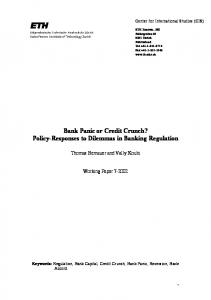 Bank Panic or Credit Crunch? Policy-Responses ... - Semantic Scholar