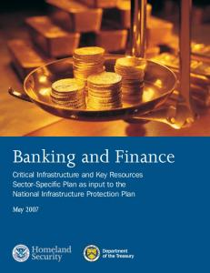 Banking and Finance Sector-Specific Plan
