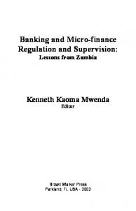 Banking and Micro-finance Regulation and ... - Bookpump.com