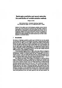 Bankruptcy prediction and neural networks: the contribution of variable ...