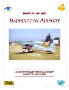 BAR INGTON AIRPORT BARRINGTON AIRPORT