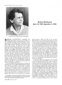 Barbara McClintock - Europe PMC