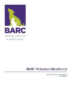BARC Volunteer Handbook - Houston - City of Houston