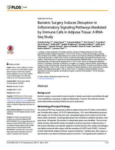 Bariatric Surgery Induces Disruption in