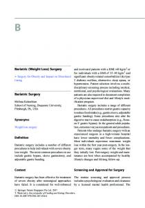 Bariatric (Weight Loss) Surgery Bariatric Surgery - Springer Link