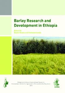 Barley research in Ethiopia