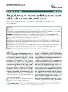 Baropodometry on women suffering from chronic pelvic pain - a cross