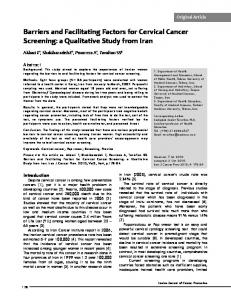 Barriers and Facilitating Factors for Cervical Cancer Screening: a ...