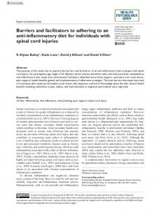 Barriers and facilitators to adhering to an anti ...