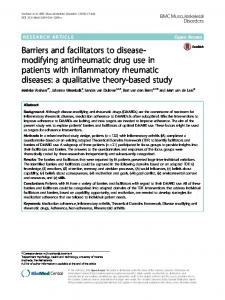 Barriers and facilitators to disease-modifying ...