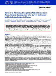 Barriers to Accessing Emergency Medical Services ... - Semantic Scholar