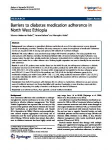 Barriers to diabetes medication adherence in North ... - BioMedSearch