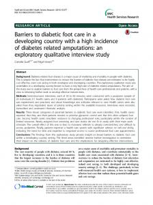 Barriers to diabetic foot care in a developing ... - Semantic Scholar