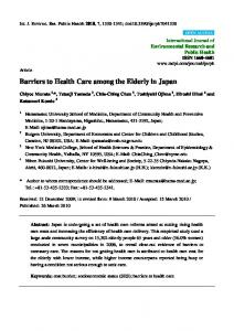 Barriers to Health Care among the Elderly in Japan - MDPI