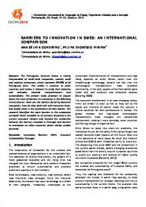 BARRIERS TO INNOVATION IN SMES: AN INTERNATIONAL ...