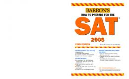 Barrons How to Prepare for the SAT 23th Edition - WordPress.com