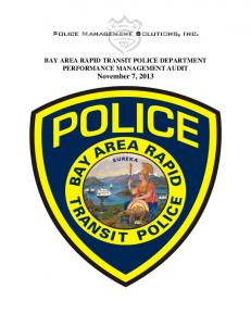 BART PD Performance Management Audit