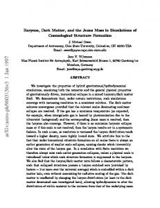 Baryons, Dark Matter, and the Jeans Mass in Simulations of