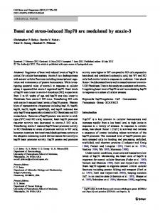 Basal and stress-induced Hsp70 are modulated by ... - Springer Link