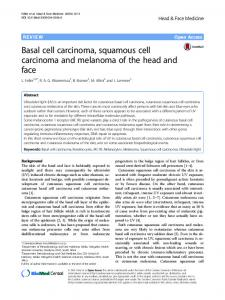 Basal cell carcinoma, squamous cell carcinoma and melanoma of the ...