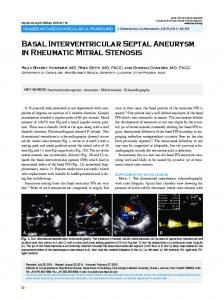 Basal Interventricular Septal Aneurysm in ... - KoreaMed Synapse
