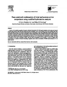 Base-catalyzed condensation of citral and acetone at low ... - Core