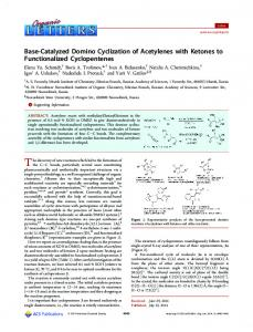 Base-Catalyzed Domino Cyclization of Acetylenes with Ketones to ...