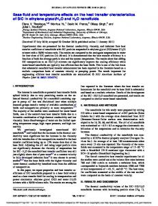 Base fluid and temperature effects on the heat transfer characteristics ...