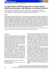 based modelling approach to evaluate factors ... - Wiley Online Library