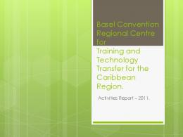 Basel Convention Regional Centre for Training and Technology ...