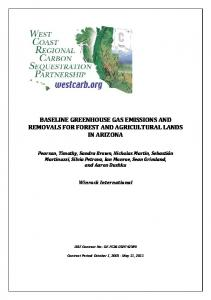 baseline greenhouse gas emissions and removals for forest and ...